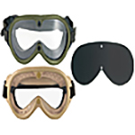 Goggles, Sunglasses and Flashlights