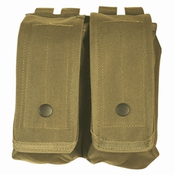 AR-15/AK-47 Dual Mag Pouch: Coyote Brown