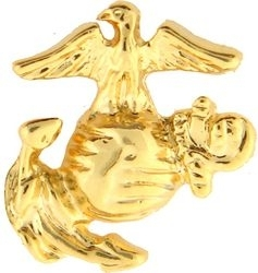 Military Pin: USMC EGA (Lf) Small GL