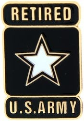 Military Pin: U.S. Army Retired Star