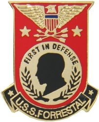 Military Pin: U.S. Navy USS Forrestal Red