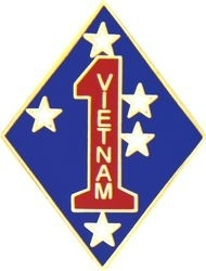 Military Pin: USMC 1st Div VN