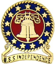 Military Pin: U.S. Navy USS Independence Bell