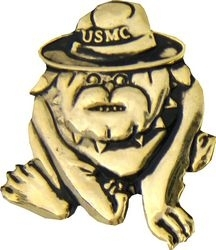 Military Pin: USMC Bulldog Gold