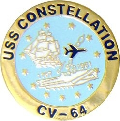 Military Pin: U.S. Navy USS Constellation Round