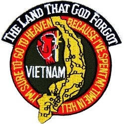 Military Patch: Vietnam Land That God Forgot