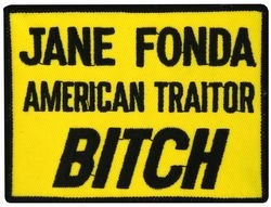 Military Patch: Jane Fonda