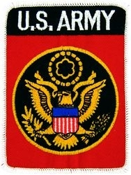 Military Patch: U.S. Army Red
