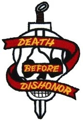 "Military Patch: Death Before Dishonor (3 1/4"")"
