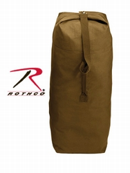 Duffle Bag: Coyote Brown Top Load Canvas