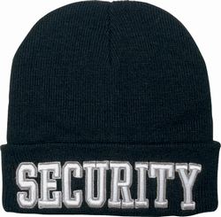 Embroidered Law Watch Caps: Security