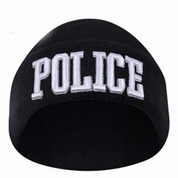 Embroidered Law Watch Caps: Police