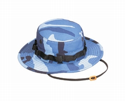 Boonie Hat: Sky Blue Camo
