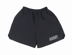 Physical Training  Wear: Black Army Shorts