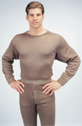 Extreme Cold Weather Crew Neck Top-Brown