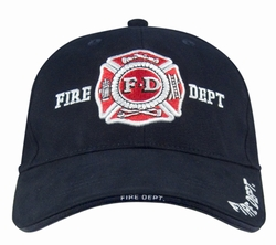 Deluxe Low Profile Law Caps: Navy Blue Fire Dept.