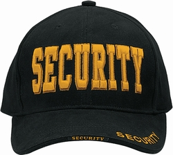 Deluxe Low Profile Law Caps: Security Gold Text