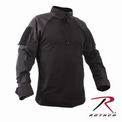 Military Combat Shirt: 1/4 Zip Black