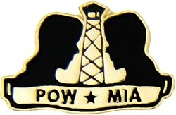 Military Pin: U.S. POW/MIA Heads