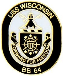Military Pin: U.S. Navy USS Wisconsin Oval