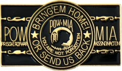Military Pin: U.S. POW/MIA Home