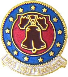 Military Pin: U.S. Navy USS Independence Round