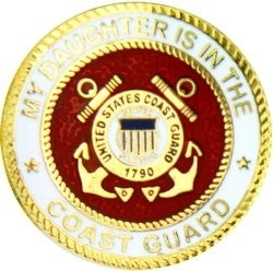 Military Pin: U.S. Coast Guard Daughter