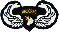Military Patch: 101st  Airborne Wings