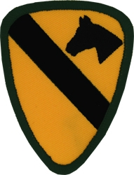 Military Patch: 1st Cav  Large