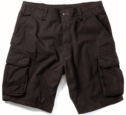 Military Shorts: Vintage Paratrooper Black
