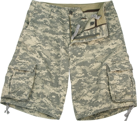 Military Shorts: Vintage Infantry Utility Army Digital