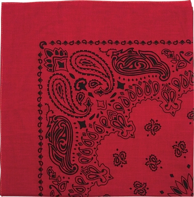Bandana-Red with Black
