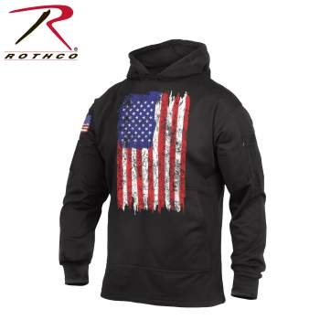Concealed Carry Flag Hoodie-Red, White & Blue