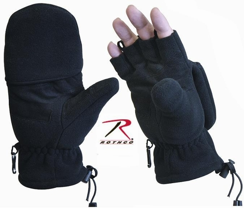 Fleece Sniper Glove-Black