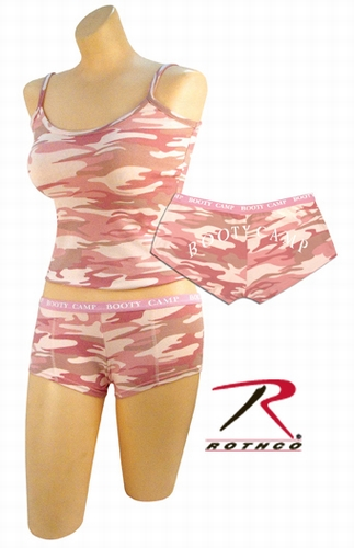 Womens Tank Top: Baby Pink Camo