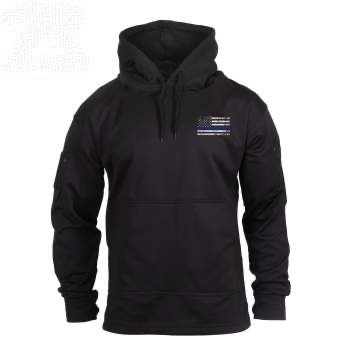Thin Blue Line Concealed Carry Hoodie-Black