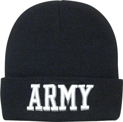 Embroidered Watch Cap Deluxe-Army