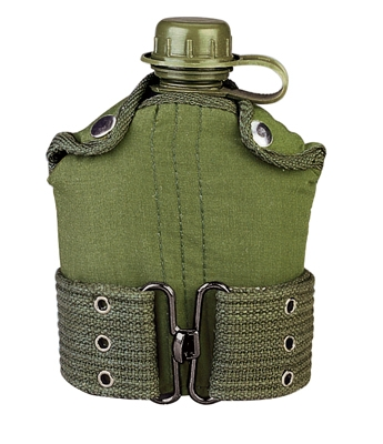 Canteens: Canteen and Pistol Belt Olive Drab