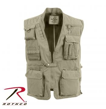 Deluxe Outback Vest: Khaki