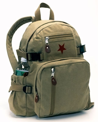 "Khaki Vintage ""Star"" Backpack"