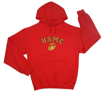 Physical Training  Wear: Red Marines Hoodie