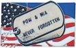 Military Pin: U.S. POW/MIA Flag Tag