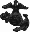 Military Pin: USMC EGA (Rt) Large Blk