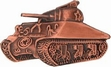 Military Pin: U.S. Sherman Tank