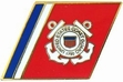 Military Pin: U.S. Coast Guard Racing Stripes