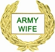 Military Pin: U.S. Army Wife