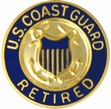 Military Pin: U.S. Coast Guard Retired