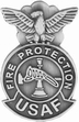 Military Pin: U.S. Air Force Fire Protection