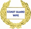 Military Pin: U.S. Coast Guard Wife