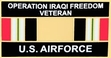 Military Pin: U.S. Air Force Iraq Vet